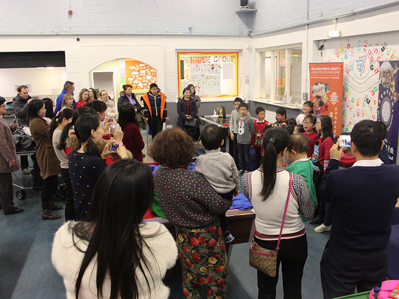 Community comes together for end of year Christmas party at Lancaster Chinese School